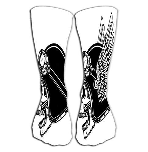 Xunulyn Women's Tube Stockings Athletic Crew Socks 19.7
