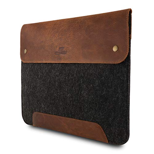(MegaGear Genuine Leather and Fleece MacBook Bag 13.3 Inch - Brown)