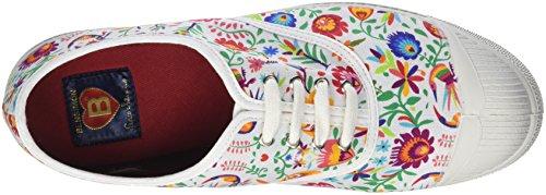Bensimon Tennis Paco Chicano, Baskets Femme Multicolore (Allover Mexico)