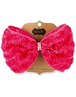Baby-Girls Pink Oversized Rosette Bow