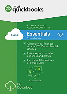 Quickbooks Online Essentials - 1 Year New Subscription