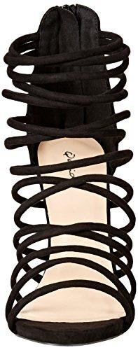Qupid Women's Glee-292 Dress Sandal, Black, 10 M US