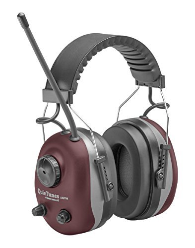 Elvex COM-660 QuieTunes AM/FM Stereo Ear Muff, Burgundy, Model: COM-660, Outdoor & Hardware Store