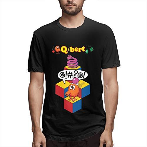 Men's Black Q bert Video Game T-shirt, S to 6XL
