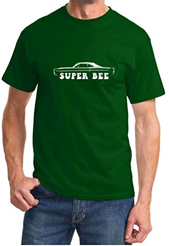 1968 1969 Dodge Coronet Super Bee Classic Outline Design Tshirt large forest ()
