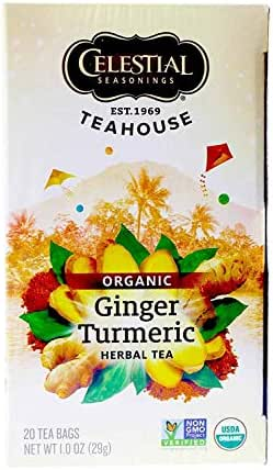 Celestial Seasoning, Ginger & Turmeric , 20 tea bags , Pack of 1