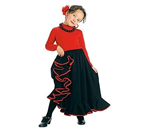 Creaciones Llopis- Falda Rociera Infantil Negra T-1 (3-5 Años),, 3 ...