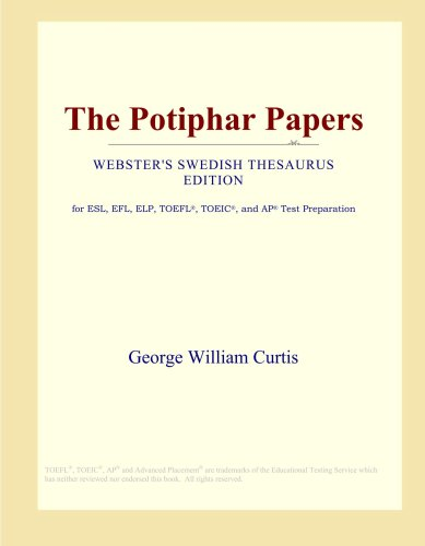 The Potiphar Papers (Webster