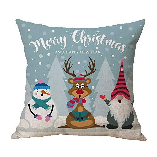 Zivisk Swedish Gnome Scandinavian Tomte Throw Pillow Covers – Yule Santa Nisse Nordic Elf Figurine Christmas Decorative…