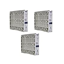 3 Trion Air Bear 20x25x5 Merv 8 Replacement Air Filters, Compare Part # 255649-102, Designed & Engineered by Crucial Air