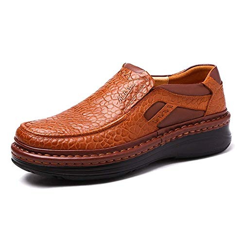 para a Cuero Marrón Ocasionales US cómodos Zapatos Mano la de Hombre Color Zapatos Zapatos tamaño HhGold Antideslizantes de 9 Suela los UK 5 Marrón 5 8 Hecha Hombres para de Hombres ZwqH5xB