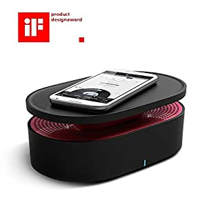 OAXIS Bento Speaker - Close Contact Induction Speaker, Best For TeleConference/Podcast/Audiobook Listening Speaker, Usable With Android and iPhone (Black)