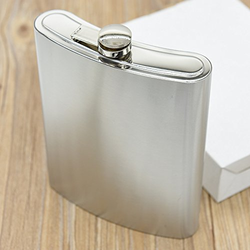 48oz Large Size Flagon Portable Stainless Steel Hip Flask Flagon Whiskey Wine Pot Bottle Gift -50 (Brooklyn Light T-shirt)