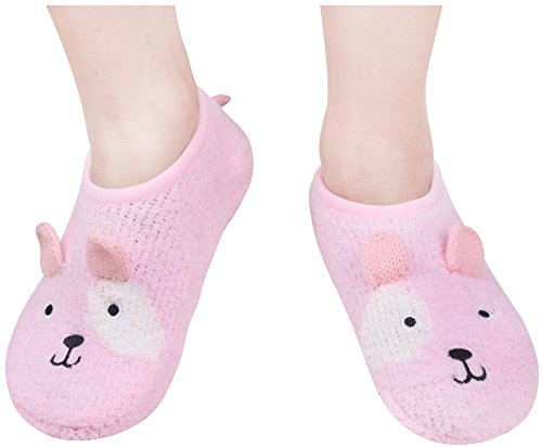 Fuzzy Socks With Grips House Slipper Sock Non Skid Slippers For Women Girls Pink