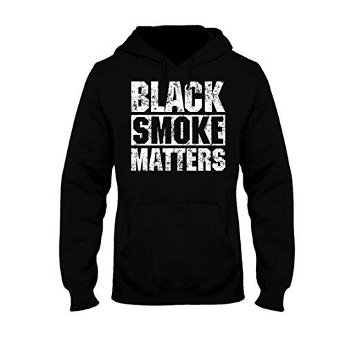 Black Smoke Matters, Funny Diesel Truck Hoodie (2X)