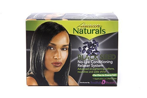 Black Seed No-Lye Afro Hair Relaxer (1 strength for fine to coarse hair) by Ayaan Naturals Soulful Beauty Ltd