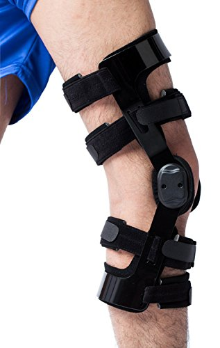 Orthomen Knee Brace for ACL/Ligament/Sports Injuries, Mild Osteoarthritis(OA) & for Preventive Protection from Knee Joint Pain/Degeneration (L/Right)