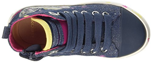 Geox Jr Ciak Girl C, Zapatillas Altas para Niñas Azul (DENIMC4008)