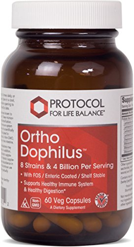 Regular Bowel Movements (Protocol For Life Balance - Ortho Dophilus™ - Supports Healthy Immune System & Digestion, Regular Bowel Movement,Weight Control, Fatigue, Healthy Bacteria (Shelf Stable Probiotic) - 60 Veg Capsules)