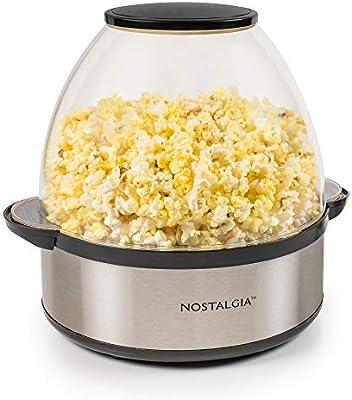 Nostalgia SP660SS Stirring Popcorn Maker 6 quart Silver