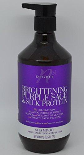Nth Degree Brightening Purple Sage & Silk Protein Shampoo (Best Blonde Toner Australia)
