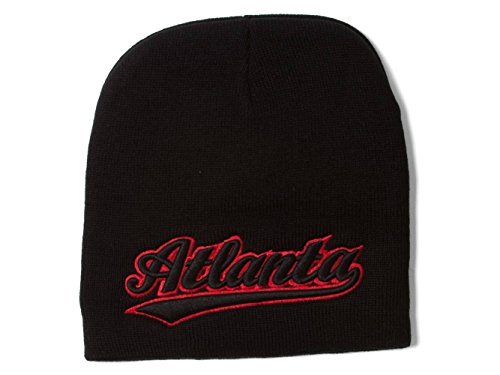 City Caps Atlanta Black Cuffless Winter Beanie
