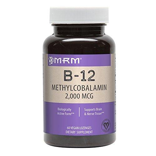 MRM Vitamin B-12 Methylcobalamin Sublingual Tablets, 2000 mcg., 60 Lozenges