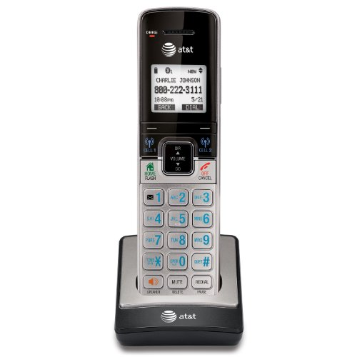 AT&T TL90073 DECT 6.0 Accessory Handset for TL92273, TL96273 & Other Models, Silver/Black