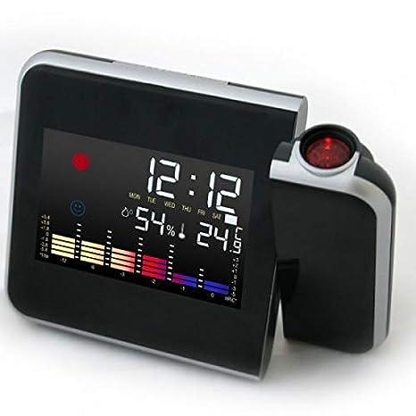 668e97b47c3 Relogio Digital Com Projetor Horas Semana Termômetro Mede Temperatura e  Desperta Com Luz Led (ds