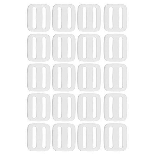 OULII Bolsa hebillas diapositivas herramienta Tri Glide hebillas 20pcs Pack (blanco)