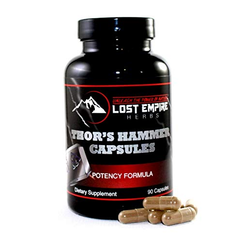 Thors Hammer - Capsules - Bedroom Performance Blend - 100% Natural - Rich in Nitric Oxide, Increases Blood Flow and Dopamine Levels - Paleo/Vegan Friendly (90 Count)