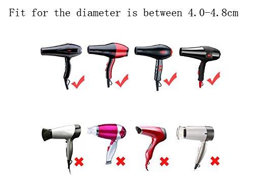 1 juego (5 piezas) portátil multifunción moda salón de plástico repuesto soplado secador de pelo plano secador de secador de boquilla concentradora: ...