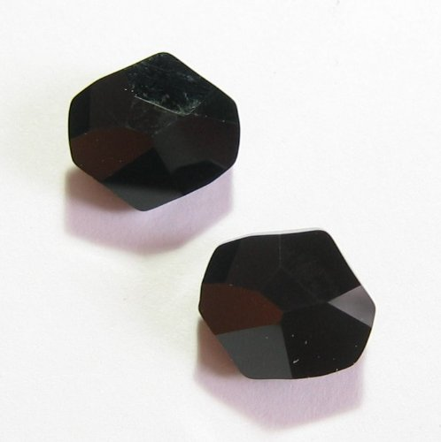 2 pcs Swarovski Crystal 5523 Cosmic Bead Jet Black 12mm / Findings / Crystallized Element