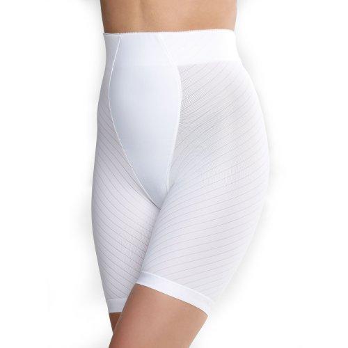 Glamorise Women's Isometric Control Long-leg Brief Shaper Girdle (30 Large, White)