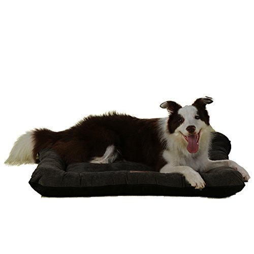 Pet Bed, Dog Mat ,QIAOQI Soft Pet (Dog/Cat) Bed Durable Lightweight Kannel Mat Machine Washable Pet Bed Liner Medium Coffe (Durable Washable)