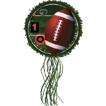 All Pro-Football Drum-Pull String Pinata, 1 Count