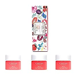 [CARENEL] Korean Cosmetics Lip Sleeping Mask 5g ( 3 Set ) – Maintaining moist lips all day long – Lip gloss and Moisturizers Cream Long lasting – Night Treatments Lip balm Chapped for Cracked lips, Dry lips, wrinkles lips for girls, women and Men