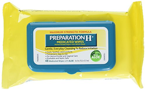 Preparation H Medicated Wipes, 48 Count (Pack Of 6)