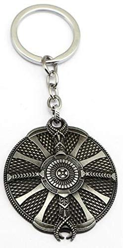 Amazon.com: Mct12 – Llavero de metal antiguo con escudo de ...