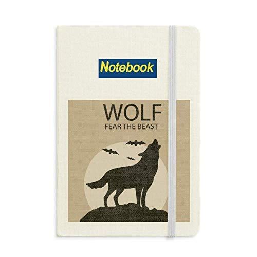 Wolf Ghost Fear Halloween Pumpkin Notebook Classic Journal Diary A5 -