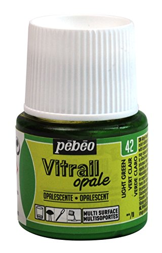 Pebeo Vitrail, Stained Glass Effect Paint, 45 ml Bottle - Light Green ()