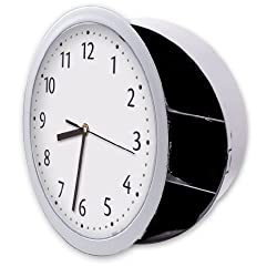 Hidden Wall Clock Safe, Looks Like Regular Wall Clock but Has a Hidden Safe Behind Clock Face. Keeps Valuables, Documents, Keys, Other Valuables Safe and Secure. Brand: Perfect Life Ideas -Tm