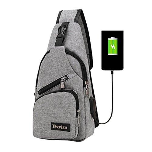 Sling Bag Shoulder Crossbody Chest Backpack Men Women Unbalance Daypack for Travel/Hiking/Outdoor Sport