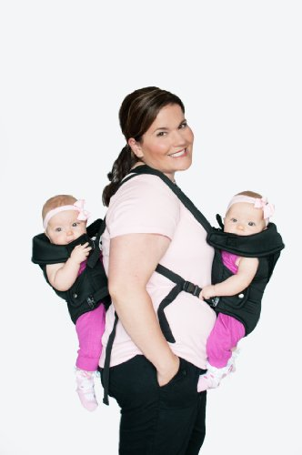 Amazon com stuff 4 multiples twintrexx 2 twin baby carrier black camping child carriers baby