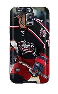 Galaxy S5 Columbus Blue Jackets Hockey Nhl (24) Print High Quality Tpu Gel Frame Case Cover
