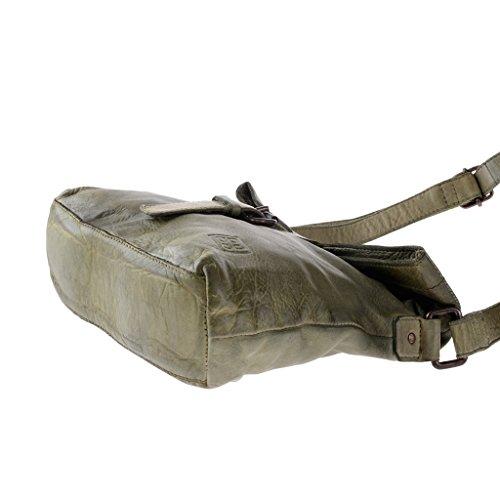Tracolla in pelle donna vintage con cinghia regolabile DUDU Pistachio Green