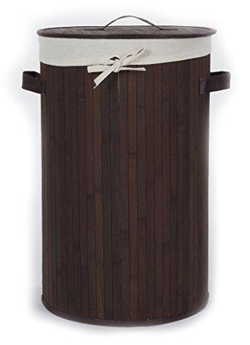 'casamia' 5385N47 Cesto de Ropa, Bambú, Chocolate