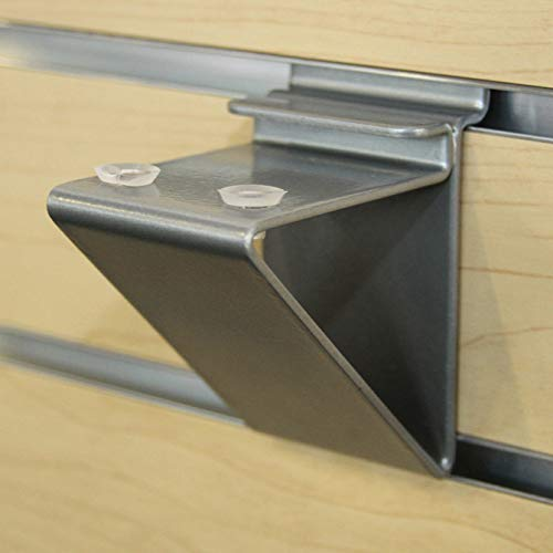 Slatwall Glass Shelf Bracket, Low Profile Support for Glass Shelving up to 12