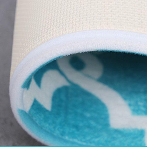 Bath Mat, U'Artlines Comfort Extra Thick Memory Foam Bath Mat Set Bathroom Mats Shower Rugs with Sbr Back and Flannel Surface (17.7x47.3, Blue) by U'Artlines (Image #3)