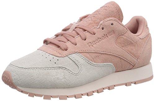 Sneaker Classic Reebok Damen Chalk NBK Leather Pink Pink Pale vIvqUO